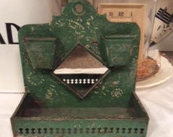 Antique Tin Double Match Holder