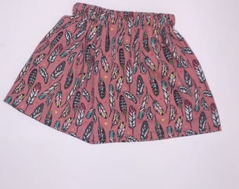 Feather Skirts- Pink/Blue