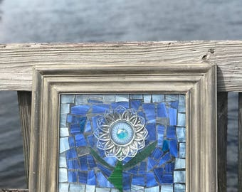 Stained Glass DIsh Hanging Picture
