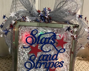 Stars & Stripes - Glass Glow Box