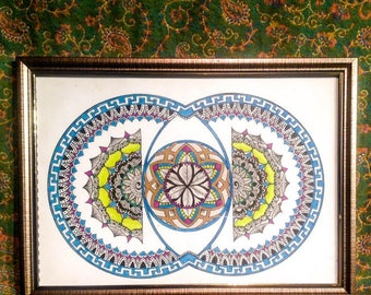 One off piece- Sacred Geometry 9 (Vesicularity)