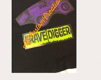 Grave Digger Monster Truck Digital file