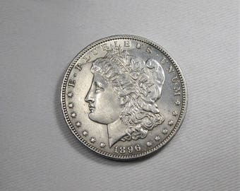 1896 P Error Morgan Dollar CH UNC Coin