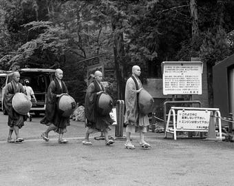Four Monks on the Way to the Temple - Kyoto