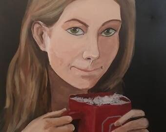 Girl in Coffeeshop