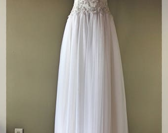 Wedding gown, lace,tull