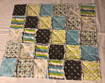 BOBO BABY Flannel Rag Quilt