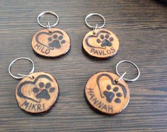 Custom Hand Made Pet ID tag, Dog Identification Tag
