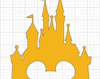 Disney Castle Decal with Mickey Mouse - Variety of Colors and Sizes