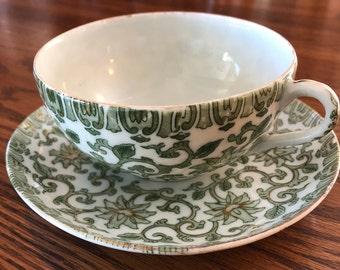 Vintage teacup and saucer Japan