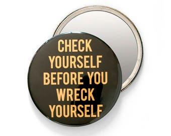 Check Yourself Pocket Mirror