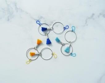 Boho Jewelry, Orange Earrings, Gift For Her, Colorful Earring, Hoop Earrings, Minimalist Earrings, Girlfriend Gift, Bohemian Tassel Earrings