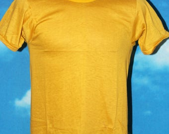 Fruit of the Loom Blank Soft Thin DEADSTOCK New Golden Yellow Tshirt Vintage 1960s