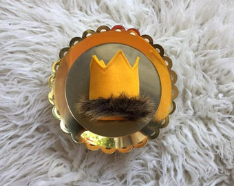 Wild Things Gold Crown, Gold Birthday Crown, Where The Wild Things Are Gold Crown, Max Gold Crown, Wild One, Gold Birthday Crown, Wild Crown