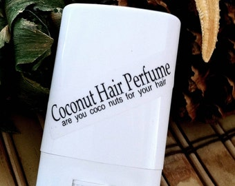 Coconut Hair Perfume - Coconut, Solid Hair Perfume,Beach Hair,Beach Wedding Favors,Bath and beauty,Beach House Living