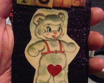 Puta Bear {Original Collage}