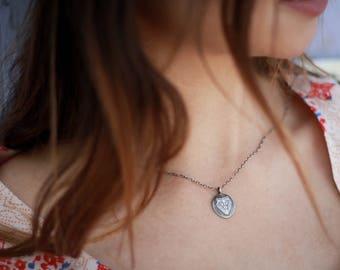 Lion Charm Silver Necklace