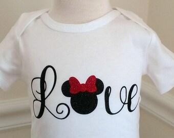 Baby Girls Disney Minnie Mouse Onesie Tutu Outfit Onesie Shirt NB-24months