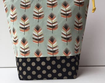 Project Bag - Sock Knitting Bag - Sock Sack - Knitting Project Bag - Crochet Project Bag - Needlepoint Bag - Embroidery Bag - (Medium)
