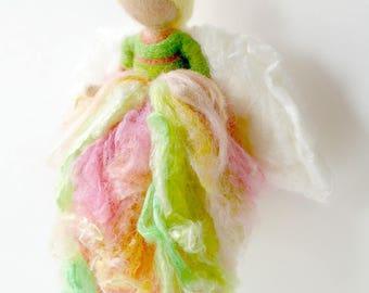 Cottage Rose Flower Fairy: Waldorf Inspired Silk & Wool Fairy (Grace + Joy)