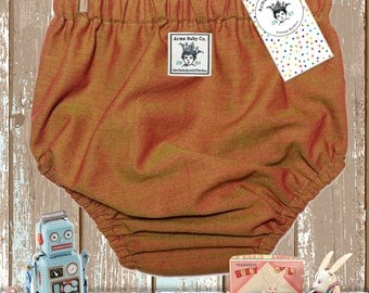 Baby Bloomers, Bubble Shorts, Baby Pants, Knickers, Brown Diaper Cover, Indian Cotton, Retro Bottoms, Diaper Cover, preemie to 6