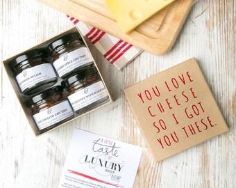 Stocking Stuffers for Men Boys Teens - Chutney Gift Set for Cheese Lovers! - OTS3