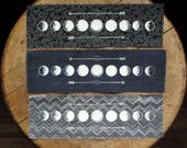 """Moon Phases - 10x3"""" Screen Printed Sew-On Art Patch"""