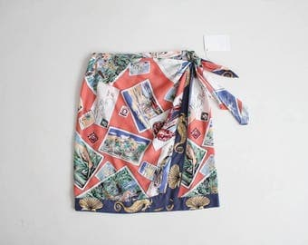 novelty print skirt | wrap skirt | ralph lauren country