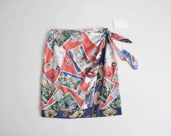 novelty print skirt | wrap skirt | ralph lauren country
