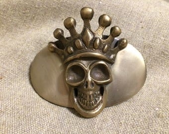 KING BABY belt buckle Chosen Grinning Crowned Skull by Mitchell Binder