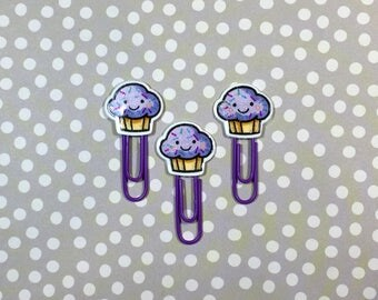 Day Planner Paper Clips • Kawaii Purple Muffins • LIMITED RUN