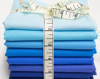 Moda Bella Solids Fabric Bundle - Blue