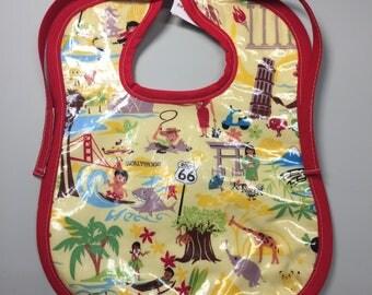 Wipeable Baby Bibs - World Traveler