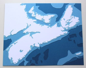 Nova Scotia - original 8 x 10 papercut art