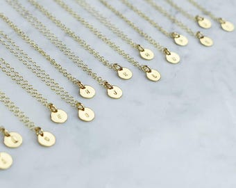 Teeny Initial necklace