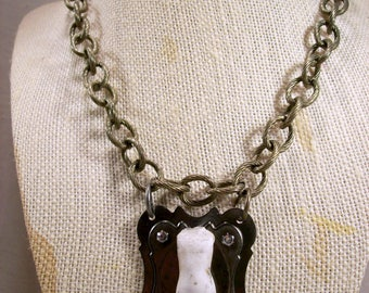 Antique German Frozen Broken Doll Body Wearable Art Necklace Toy History Indie Made Costume Jewelry OOAK Avant Decadent Quirky Statement