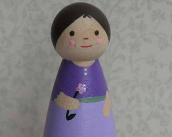 Flower Girl - Large Peg Doll - Ready to Ship