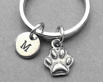 Dog Paw Keychain, Paw Print, Paw keyring, Dog Paw Print Keychain, Personalized keychain, Customized keychain, Pet keychain, dog hoof print