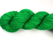 Shamrock--hand dyed sock yarn, 2ply merino and nylon, (400yds/100gm)