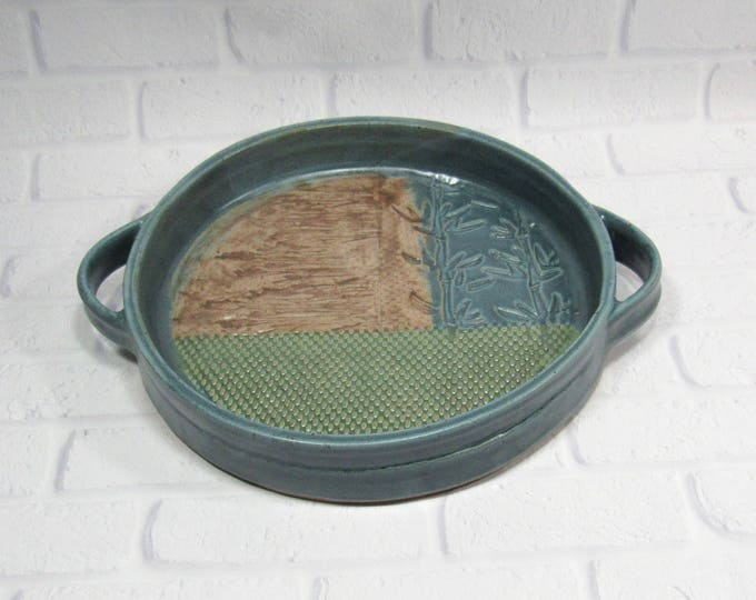 Featured listing image: Ceramic Casserole - Casserole Dish - Serving Dish with handles - Round Serving Dish - Baking Dish - Pottery Casserole Dish - Serving Tray