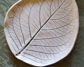 Ceramic Hydrangea Leaf Dish/Vanity Tray/Candle Dish/Snack Plate/Handmade