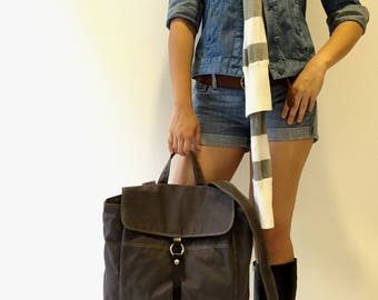 Tanya Gray backpack / Unisex Canvas Satchel Rucksack / Laptop bag  / Tote / Women / Unisex / School bag - Sale 30% off