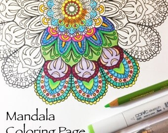 Printable Mandala Coloring Page - Instant Download