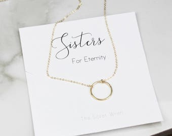 Womens Gift, Gifts for Sister, Jewelry Gift, Gift for Her, Sister Gift, Gift Under 30, Dainty necklace, Gift for Women, Eternity Necklace
