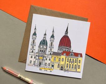 Budapest Greetings Card - Budapest Skyline - Greetings Card - Budapest Print Card