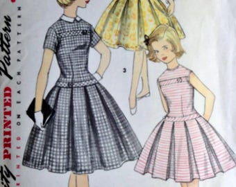 6e42c3fe64bd ON SALE 1950s Simplicity 1496 Dress Pattern for Girls Size 10 ...