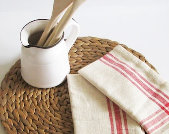 Red Stripe Napkins Country Living