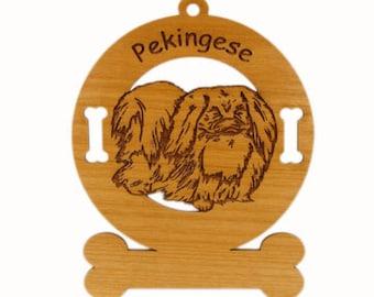 3699 Pekingese Standing Personalized Dog Ornament