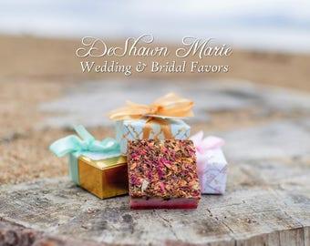 Wedding Favors, Custom wedding favors, custom soap favors, bridal favors, designer favors, party favors, flower favors, classy unique favors
