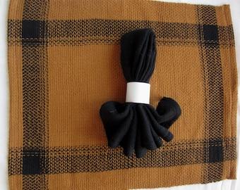 Black Cotton Cloth Napkins
